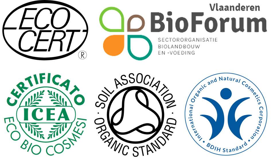 Etichetta dei cosmetici Ecobio: loghi certificazioni Ecobio
