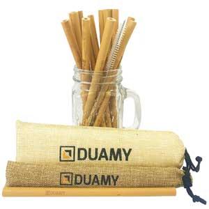 Idea Ecologica per la casa: Cannucce in bambù riutilizzabili.