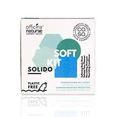 Idee Regalo Ecobio per uomo: Officina naturae, kit detergenti in formato solido.