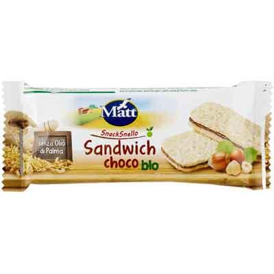 Prodotti Ecobio senza lievito: matt Snack al cioccolato Bio senza olio di palma