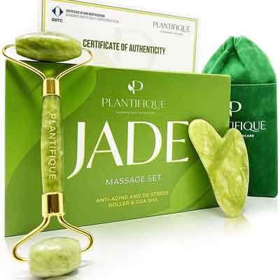 Rullo di giada per massaggio viso: Plantifique