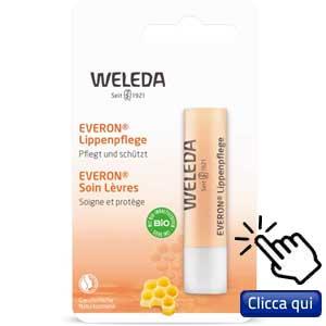 Migliore protezione solare per le labbra in stick: Weleda, stick labbra con cera d'api