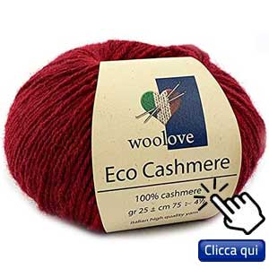 filati eco sostenibili per lavorare a maglia: gomitolo di eco cashmere