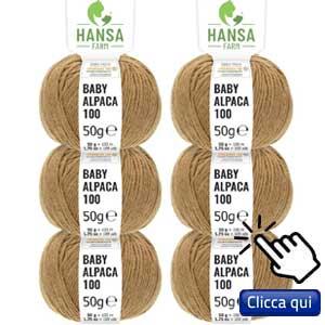 filati eco sostenibili per lavorare a maglia: gomitolo di lana di baby alpaca